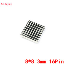 2Pcs 8*8 3mm Dot Matrix LED Display Red Common Anode 8x8 16Pin Digital Tube For Arduino Electronic Module DIY 1008BS(China)