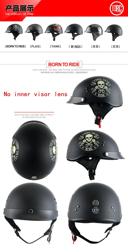 0736734738636 Compre Nueva Llegada TORC Motocicleta Medio Casco Retro Scooter ...