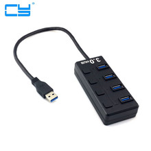 USB 3.0 Multiple 4 Ports Hub Adapter with Switch For PC Laptop Tablet Macbook Support Windows 7 Win 8 Mac(China)