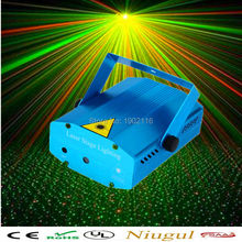 Mini Portable 110-240V Red Green Laser Meteor Projector Lights DJ KTV Home Party Dsico Xmas LED Stage Lighting(China)