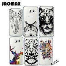 Jaomax Animal Mandala Head Deer Elephant Case For Samsung Galaxy S3 S4 S5 S6 S7 EDGE Transparent Soft Silicone Phone Cover Shell