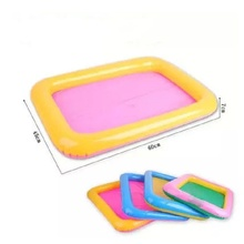 Inflatable Sand Tray Sand Plastic Sand box Kinetic Play Child Kids Indoor Play beach Sand Molding Clay Color Mud Toys