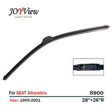 "S900 Wipers Size:28""+26""R Fit For SEAT ALHAMBRA(1995-2001) Wiper blade rubber replacement Escobillas limpiaparabrisas(China)"