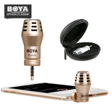 BY-A100 Omni Directional Condenser Microphone for iPhone i Pad iPod Touch Android Smartphones for Video and Recording(China)