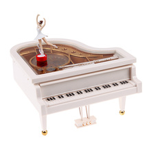 Piano Music Toy Clockwork Type Rotary Classical Ballerina Girl On The Piano Music Toy Baby Girl Birthday Christmas Gift Toy(China)