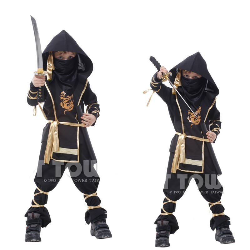2017 Childrens Clothing Set Classic Halloween Cosplay Sports Costumes For Boys Cartoon Martial Arts Ninja Costume Kids Clothes <br><br>Aliexpress