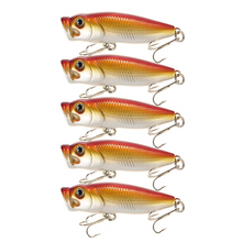 Lixada Lifelike Fishing Lures Topwater 6cm 7g Popper Isca Artificial Bait Hard Treble Hooks Pesca - Sports Zone-Keep you heathy store