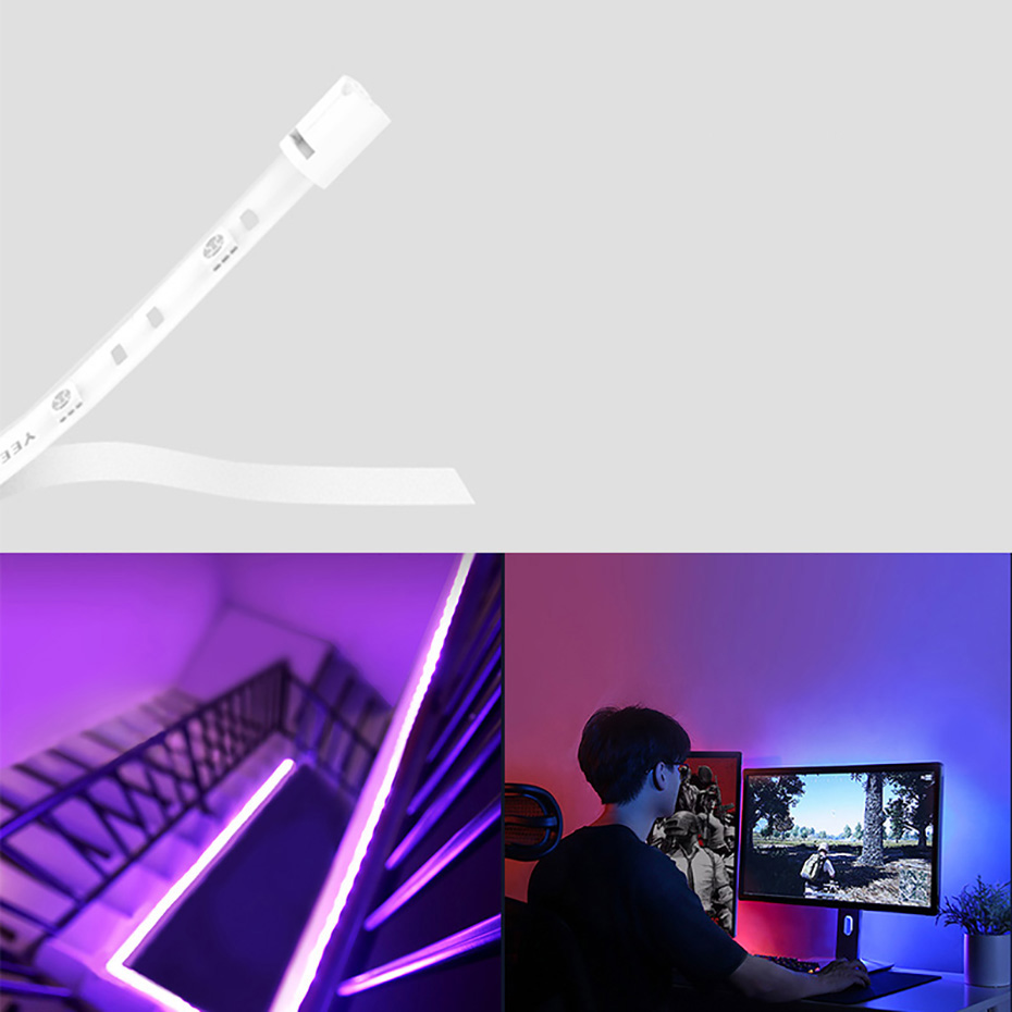 Yeelight 1M Smart Lightstrip 1S Extension Pack LED RGB Color  Work Google Assistant Homekit MIJIA