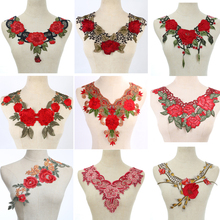 1pcs Fabric Flower Venise Lace Sewing Applique Lace Collar Neckline Collar Applique Diy Craft Neckline Sewing Accessories