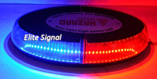 Free shipping by Fedex!! New design oval-shaped 400mm LED mini lightbar, 1W LEDs, 16 flashing patterns, DC12V or 24V