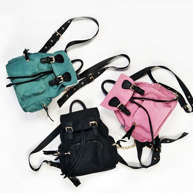 2018 Waterproof Nylon Women Backpack Preppy School Bags For Teenagers Girls Mini Shoulder Bag Backpack Travel Bags Backpack S128<br>
