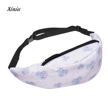 2017 New Fashion Unicorn Printed Waist Pack For Men Women Fanny Pack Bum Bag Hip Money Belt travel Mobile Phone Bag Hot Sale(China)