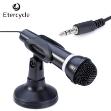 Desktop 3.5mm Multimedia Stereo Professional Studio Wired Microphone Mic with Stand Holder for Skype, Net Chat, Gaming, Singing