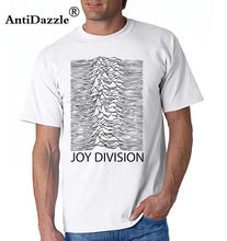 Antidazzle Joy Division Unknown Pleasure men's t-shirts Post Punk fahion funny brand clothing hip hop Male fitness top Tops tee(China)