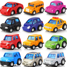 6pcs/lot Mini Pull Back Car Toy Alloy Diecast Brinquedo Metal Model Vehicle Toys For Boys Girls Children Christmas 6pcs Random(China)
