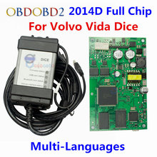 Newest 2014D Full Chip Auto Diagnostic Tool For VOLVO Vida Dice For VOLVO Series Multi-Language With Excellent Green PCB Board(China)
