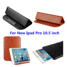 PU Leather case sleeve super slim cover Pouch Bag Sleeve Bag Can Stand Cases For New ipad  Pro 10.5 inch 2017 Release Tablet