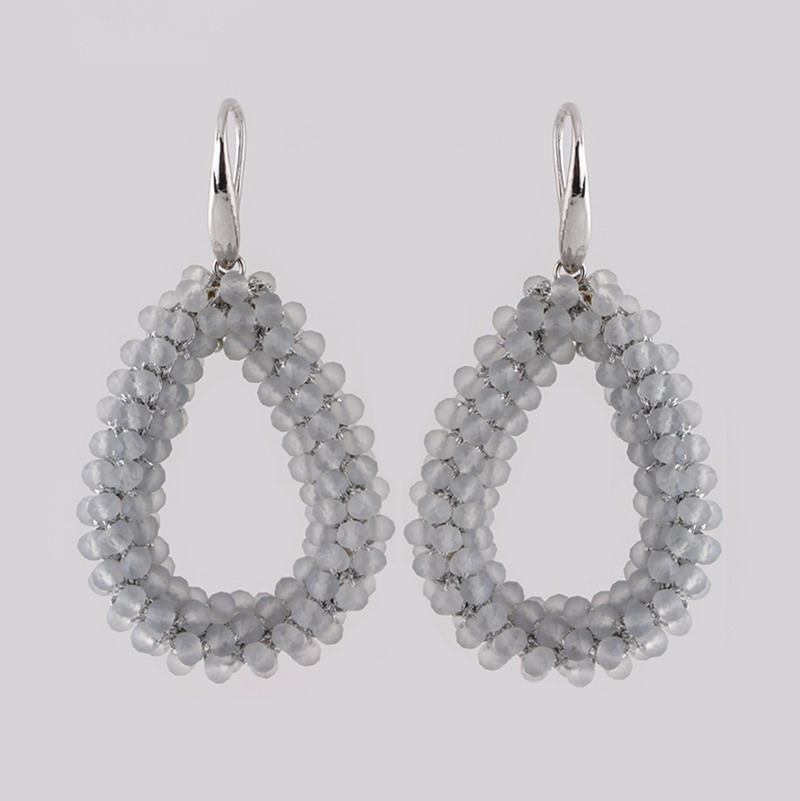Earrings Matte White