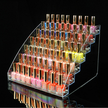31X31X25cm 7 Tiers Makeup Cosmetic Clear Acrylic Organizer Lipstick Jewelry Display Stand Holder Mac Nail Polish Rack B561-6-6(China)