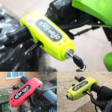 Universal Motorcycle Lock Motorbike Scooter Handlebar Safety Lock Brake Throttle Grip anti theft Protection Security Lock(China)
