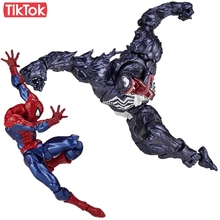 Revoltech Venom No.003 Spider Man Series No.002 Spiderman Toy Action Figure Model Gift