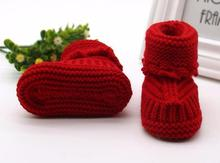 Baby Boots Toddler Newborn Baby Knitting Lace Crochet Shoes Buckle Handcraft Shoes Calcados Infantil