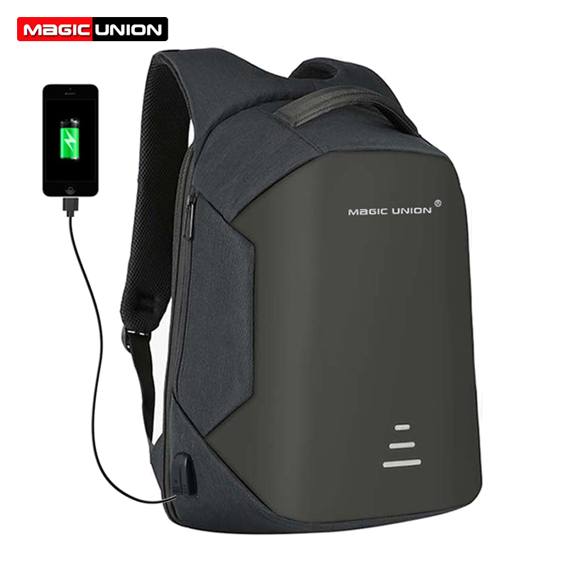 MAGIC UNION Mens Travel Bag Man Swiss Backpack Polyester Bags Waterproof Anti Theft Backpack USB Charge Laptop Backpacks Men<br>