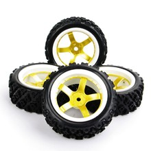 4pcs/set 1/10 RC Rally Racing Off Road Car Tyre D5NWG+PP0487 12mm Hex F Rc Model Car Accessories & parts Kids Toys