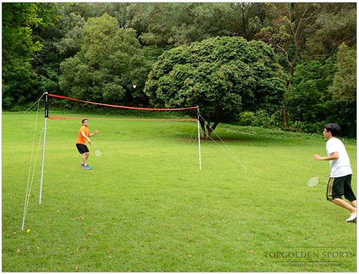 HTB1iKqFX0PJ3eJjSZFLq6yb3FXav - Sports 2 in 1 recreational badminto and volleyball combo set :net poles,ball,rackets &shuttlecock -portable euqipment for lawn