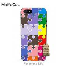 MaiYaCa Black tpu silicone Special Offer phone case For case iPhone 5s 6s 6splus 7 7plus Plants Cactus color puzzle(China)