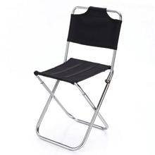 Portable Outdoor Fishing Folding Chairs Garden Picnic Camping Black Aluminum  Home Furniture Stackable