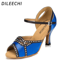 DILEECHI hot drilling and Latin dance shoes ballroom dancing outside soft bottom shoes party Square dance shoes(China)