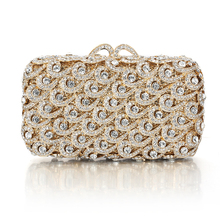 Buy Quality Designer Handbag Women Evening Clutch Bag for Wholesale Price Beaded Crystal Evening Bags Golden Silver Black Clutch