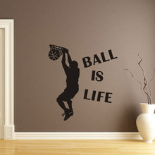 Buy Hot Sale 1PC Wallpaper Ball Life Sport Playing Basketball Wall Sticker kids rooms Mural Decor Decal Removable New for $1.39 in AliExpress store