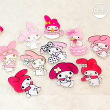 10pcs mixed  acrylic resin cartoon my melody cabochon  for DIY pendant decoration