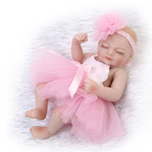 Best Girl Gift Lifelike Doll Toys 26CM Mini Silicone Doll Baby Dolls For Girls(China)