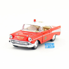 Free Shipping/KiNSMART Toy/Diecast Model/1:40 Scale/1957 Chevrolet Bel Air Classical Fire Chief/Pull Back Car/Collection/Gift(China)