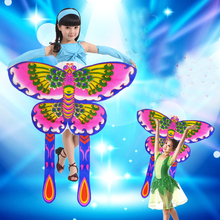 free shipping high quality children kites lovely butterfly kite10pcs/lot dance kites nylon ripstop fabric can not flying