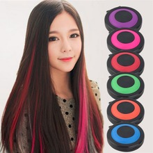 Professional Temporary Hair Dye Powder Cake Styling Hair Chalk Set Soft Pastels Salon Tools Kit Non-toxic(China)