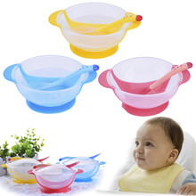 Baby Learning Dishes With Suction Cup Assist Food Bowl Temperature Sensing Spoon Baby Feeding Bowl Kids Tableware