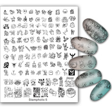 New Nail Art Stamping Plate Plus Size 17*21cm Cartoon Animal Cute Icon Transfer Stamping Template Manicure Diy Nails Beauty 2017