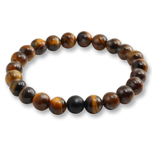 Buy Tiger Eye Natural Stone Beads Bracelets & Bangles Women Men Black Fashion Charm Bracelet Casual Jewelry Love Gifts Pulseras for $1.26 in AliExpress store