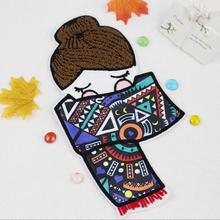 ZUCZUG Large Fashion Patch Custom Clothing Decoration Scarf Embroidered Girl Embroidery Towel DIY Clothing Accessories Hand Sewn