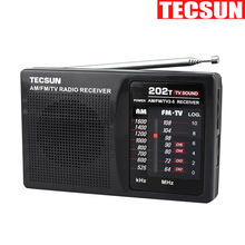 TECSUN R-202T FM AM TV Radio receiver Mini portable simple to control Economic battery consume than digital