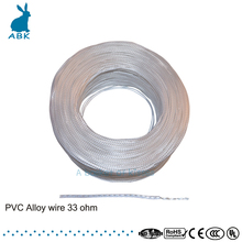 Transparent PVC alloy heating wire 5V---220V 33 ohm Anti freezing Heating wire Heating cable   USB power heating wire