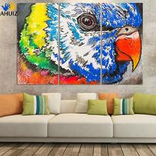 3pcs/set beautiful birds modern design canvas print wall art picture home decorations for kid room D058(China)