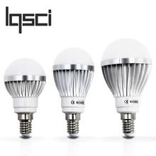 LQsci LED Bulb Lamps E14 220V - 240V Light Bulb Smart IC Real Power 3W 5W 7W 9W 12W High Brightness Lampada LED Bombillas(China)
