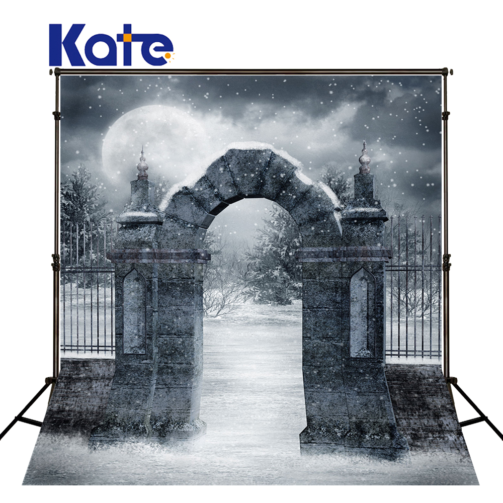 Kate Black And White Backgrounds For Photo Studio Old Door Camera Fotografica Profissional With Moon Hollween Backdrop<br>