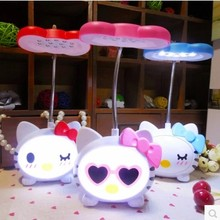 KT cat body light folding headboard such cartoon jingle cats learning lamp charging Mini Nightlight desk lamp LED cartoon