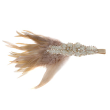 Fashion Women Retro Feather Crystal Headband Hair Band Fascinator Cocktail Evening Party Accessory(China)